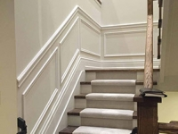 Wainscoting installation, unique design, great craftsmanship